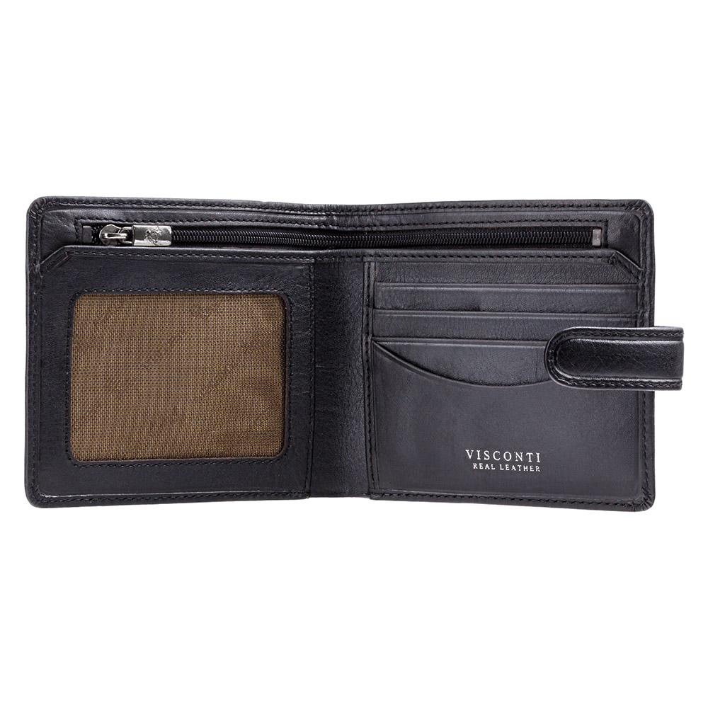 Мужской кошелек Visconti TSC41 - Massa (Black)