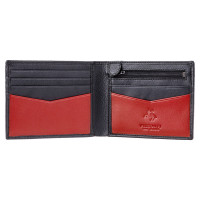 Мужской кожаный кошелек Visconti VSL20 с RFID - (Black-Red)