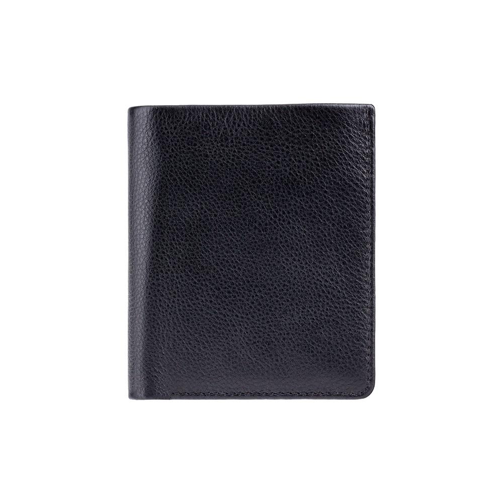 Мужской кожаный кошелек Visconti VSL21 с RFID - (black/cobalt)