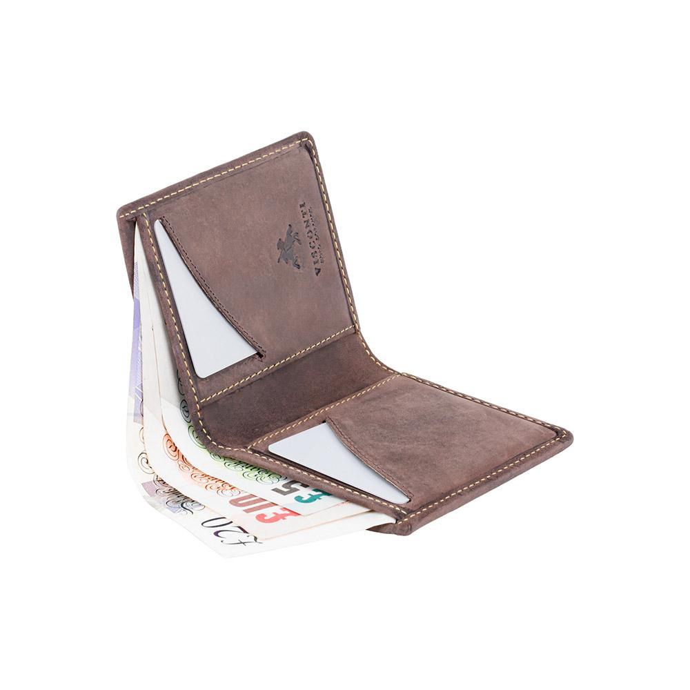Мужской кожаный кошелек Visconti VSL21 с RFID - (oil brown)