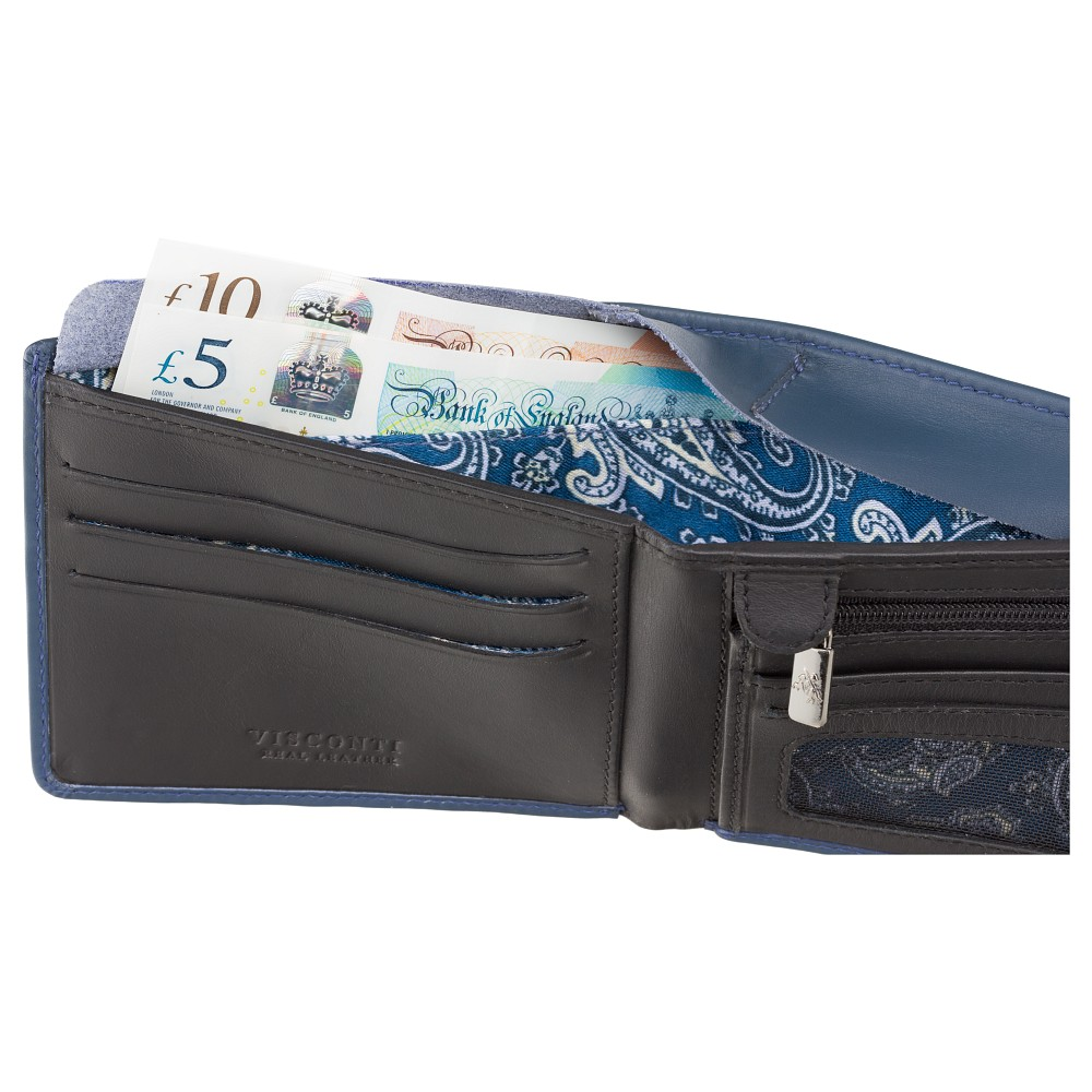 Мужской кошелек Visconti VSL33 с Tap-n-Go  - (Steel Blue/Black)
