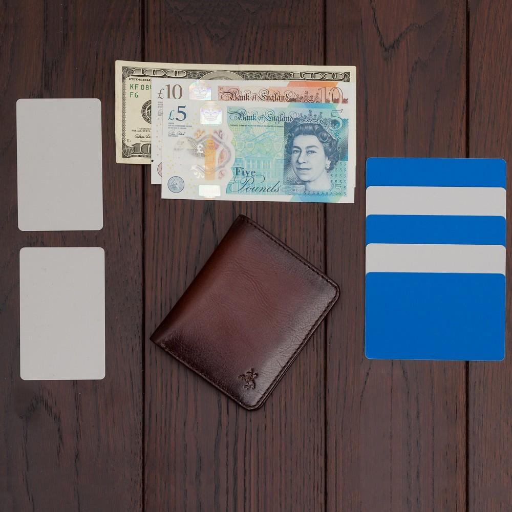 Мужской кошелек Visconti AT56 c защитой RFID - David (Burnish Tan)