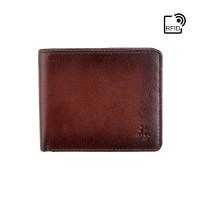 Мужской кошелек Visconti AT58 c RFID - Milo (Burnish Tan)