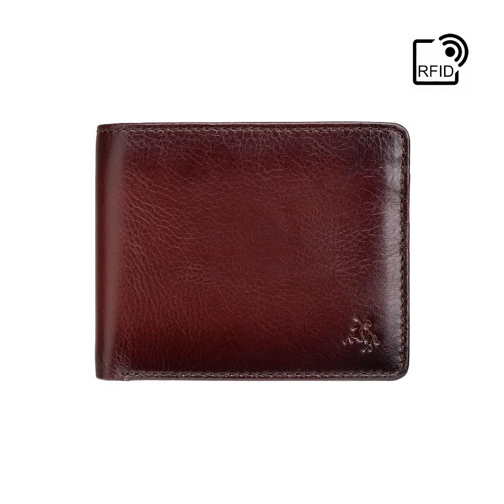 Мужской кожаный кошелек с монетницей Visconti AT60 Tap-n-Go c RFID - Arthur (Burnish Tan)
