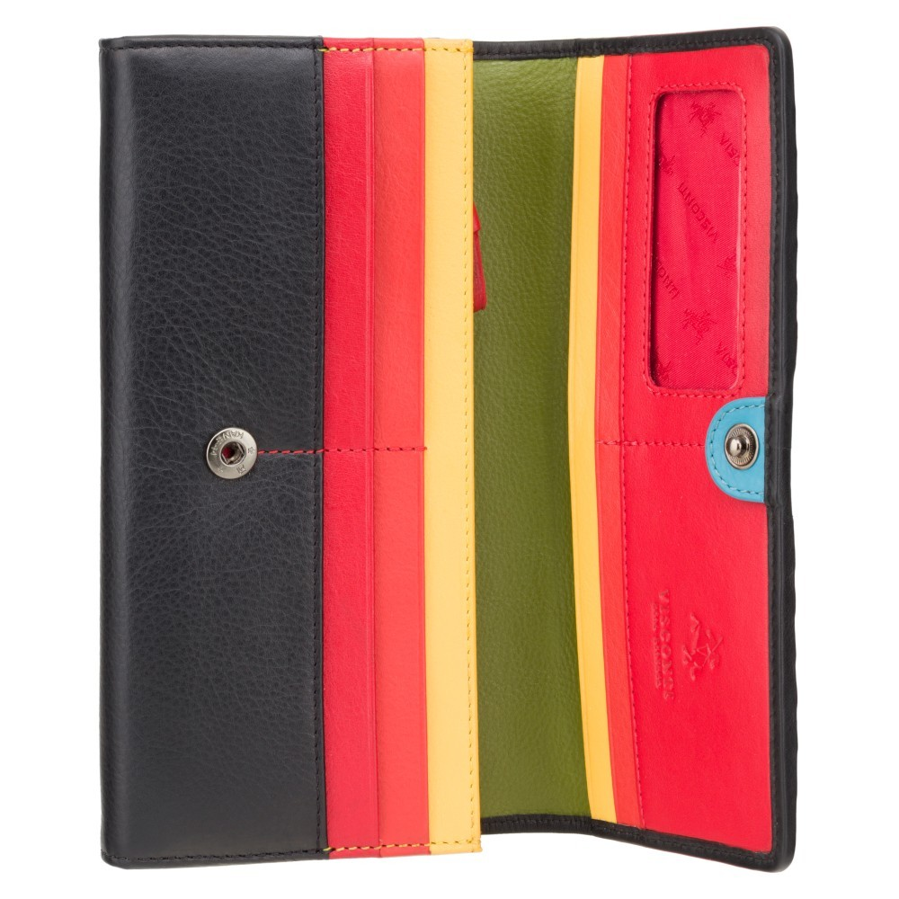 Женский кошелек Visconti HR80 с RFID (Black Rainbow)