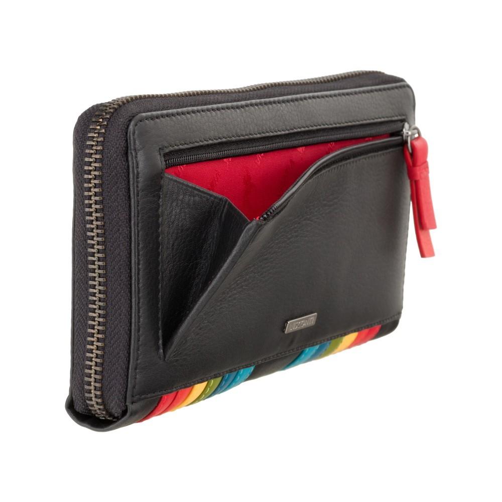 Женский кошелек Visconti HR82 c RFID - Von (Black Rainbow)