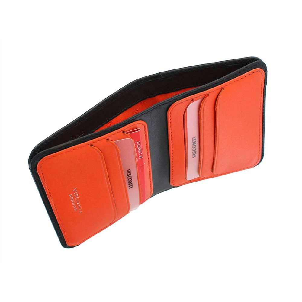 Мужской кошелек Visconti VSL34 Tap-n-Go c RFID - Lank (Black/Orange)