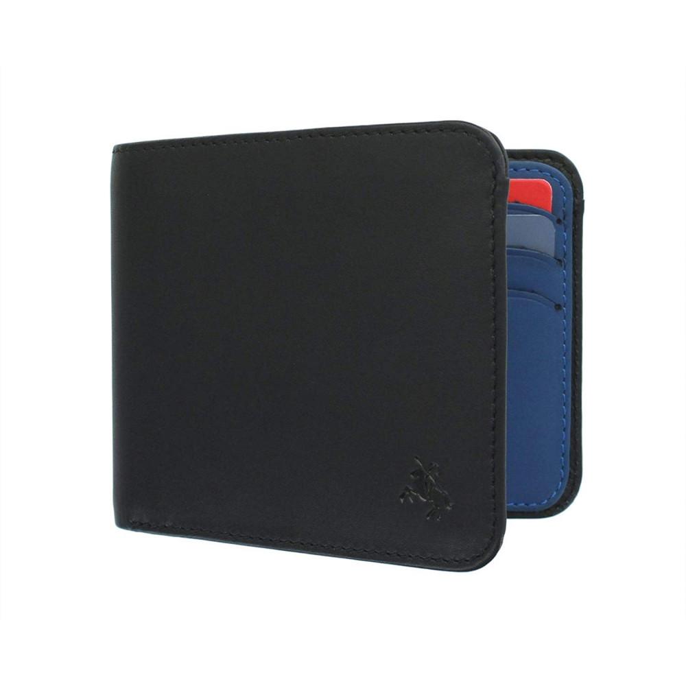 Мужской кошелек Visconti VSL35 Tap-n-Go c RFID - Trim (Black/Cobalt)