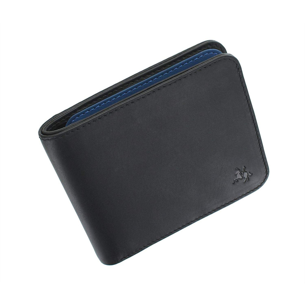 Мужской кошелек Visconti VSL35 Tap-n-Go c RFID - Trim (Black/Cobalt)
