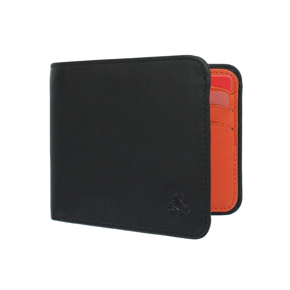 Мужской кошелек Visconti VSL35 Tap-n-Go c RFID - Trim (Black/Orange)