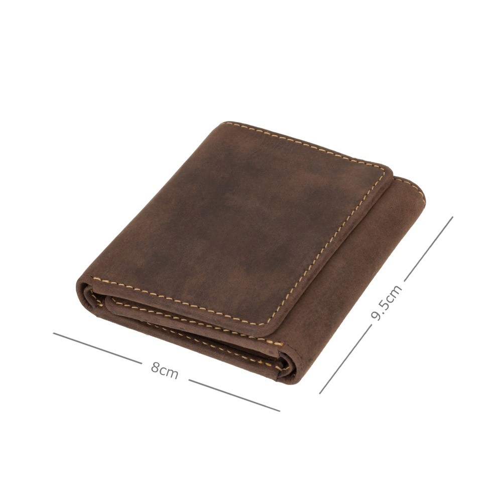 Мужской кожаный кошелек в три сложения Visconti 700 - Apache (Oil Brown)