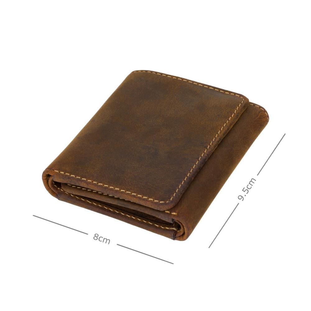 Мужской кожаный кошелек в три сложения Visconti 700 - Apache (Oil Tan)