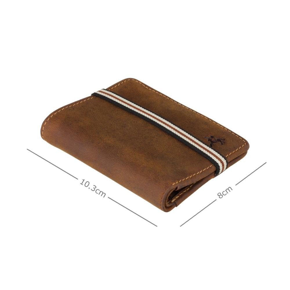 Мужской кожаный кошелек на резинке без монетницы Visconti BN2 - Arrow (Oil Tan)