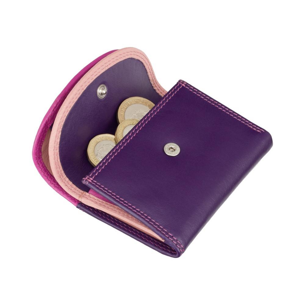 Маленький женский кожаный кошелек с монетницей Visconti RB126 Zanzibar (Berry Multi)