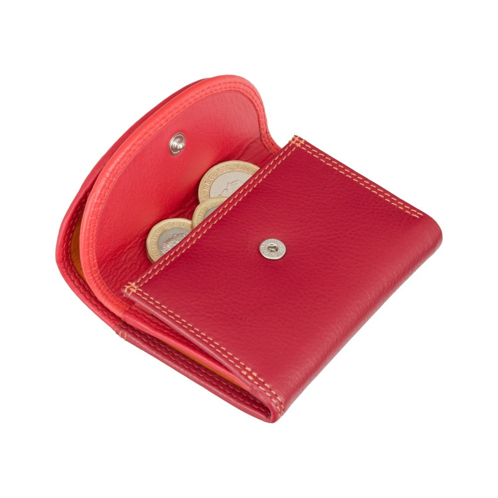 Маленький женский кожаный кошелек с монетницей Visconti RB126 Zanzibar (Red Multi)