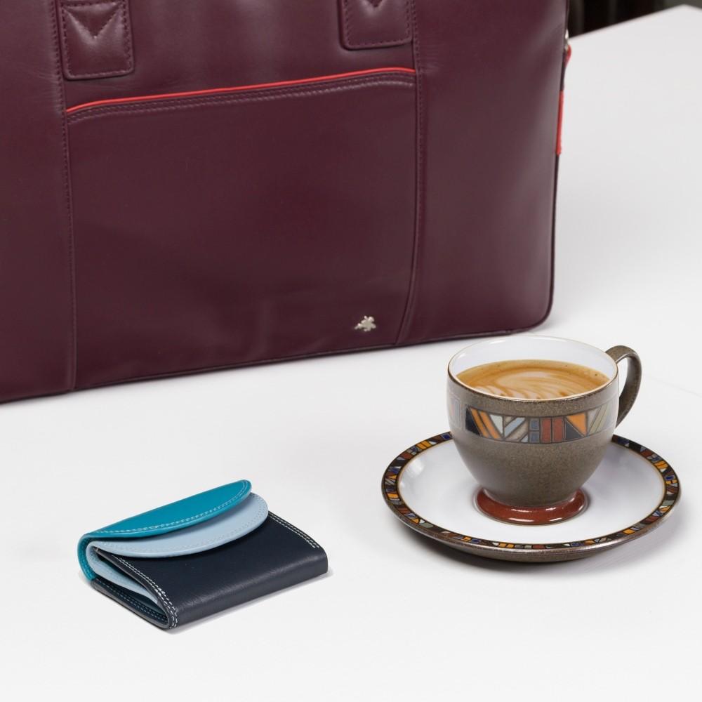 Маленький женский кожаный кошелек с монетницей Visconti RB126 - Zanzibar (Blue Multi)