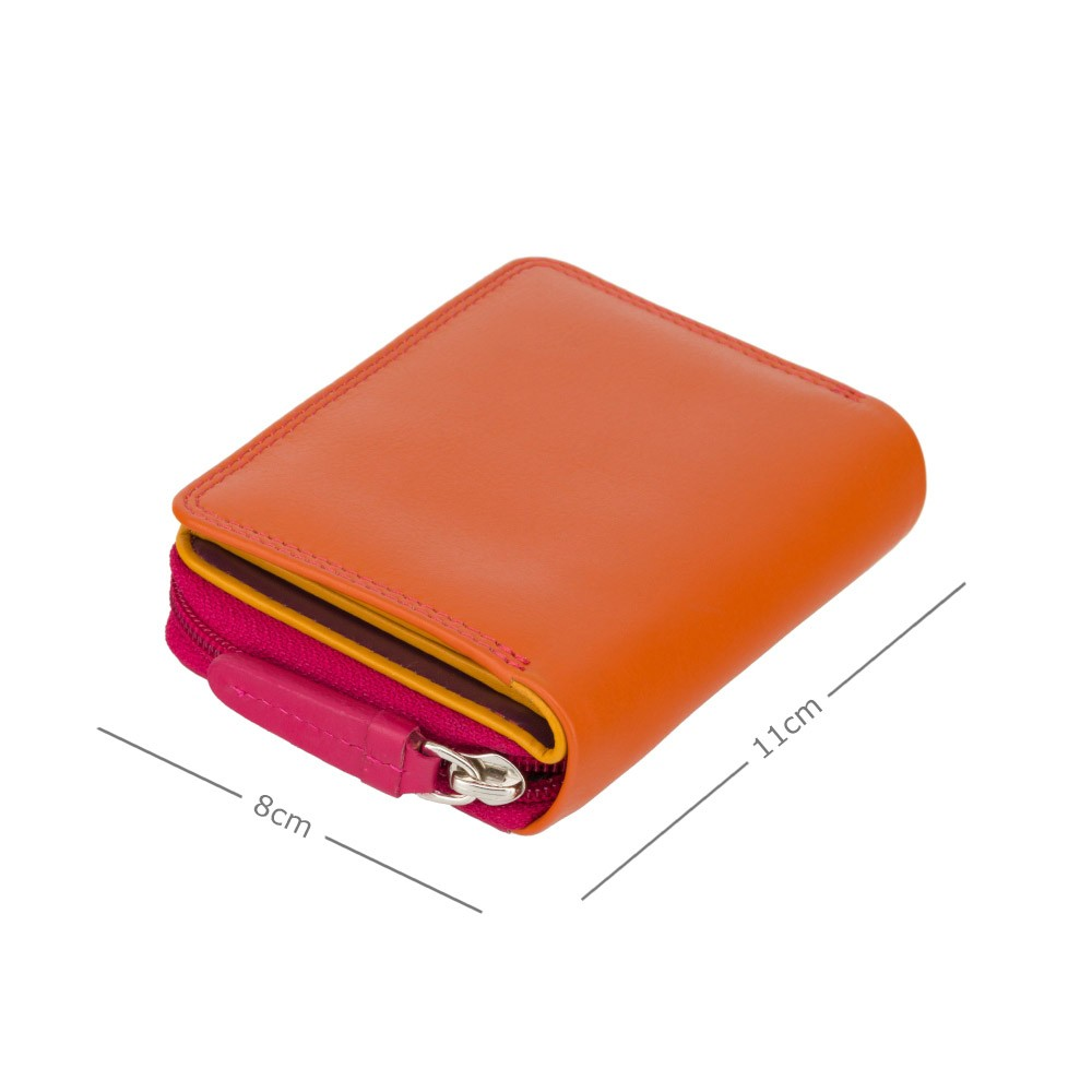 Женский кошелек Visconti RB53 - Hawaii с RFID (Orange Multi)