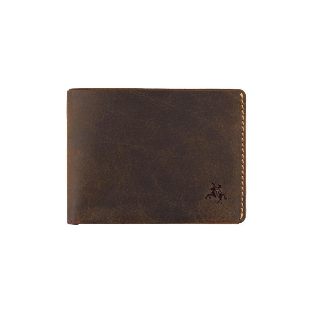 Мужской кожаный кошелек без монетницы Visconti RW49 - Dollar (Oil Tan)