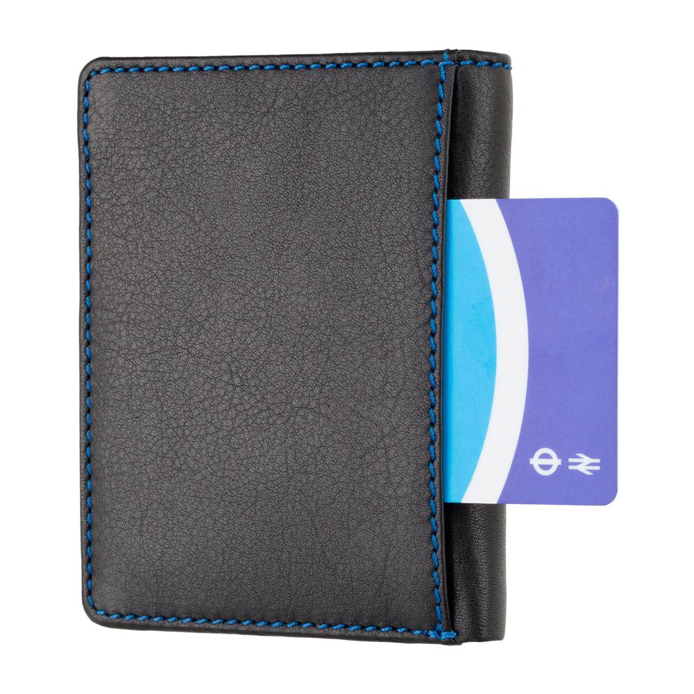 Мужской кожаный кошелек с Tap-n-Go Visconti SP60 Alder (Black Multi)