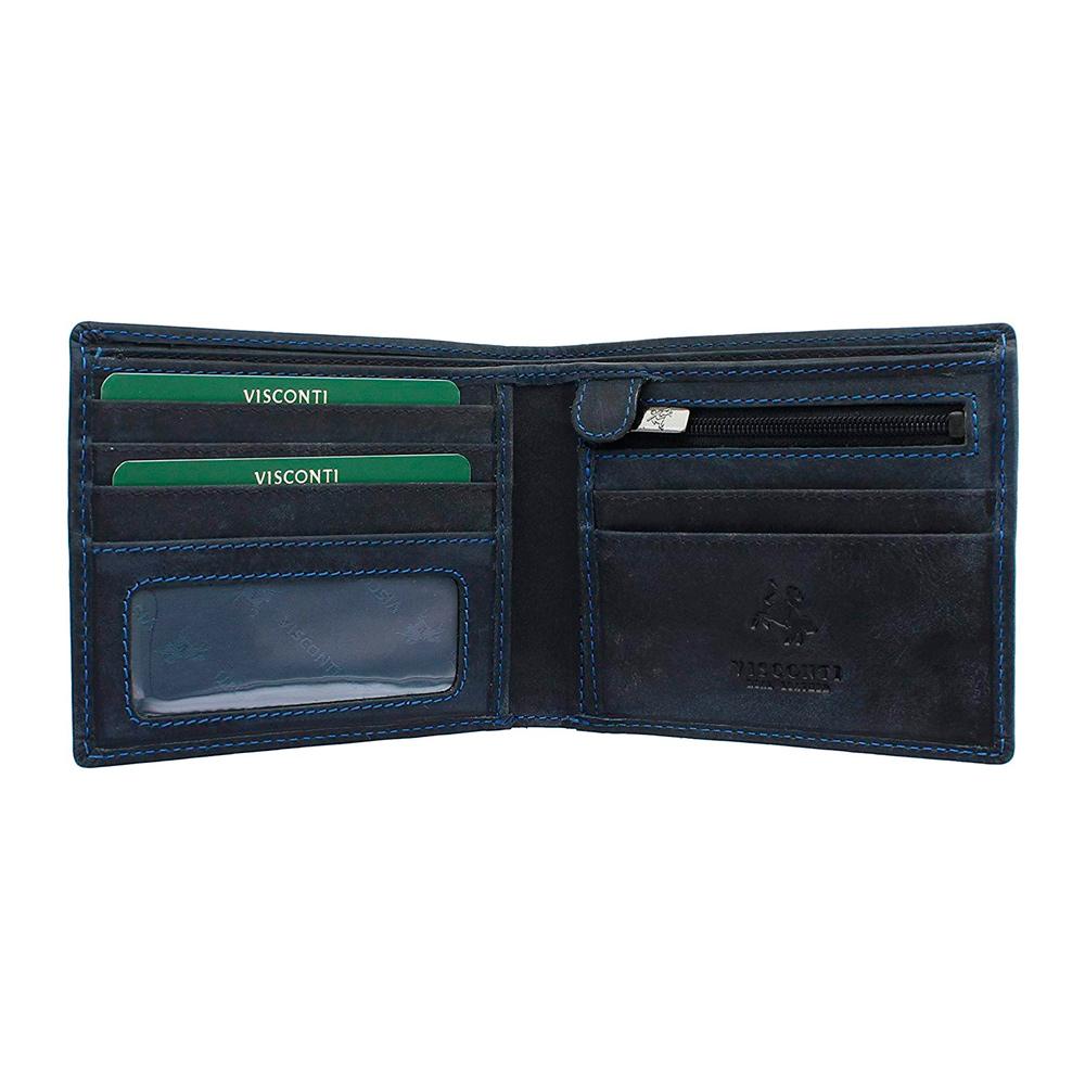 Мужской кошелек Visconti 707 Shield (oil blue)