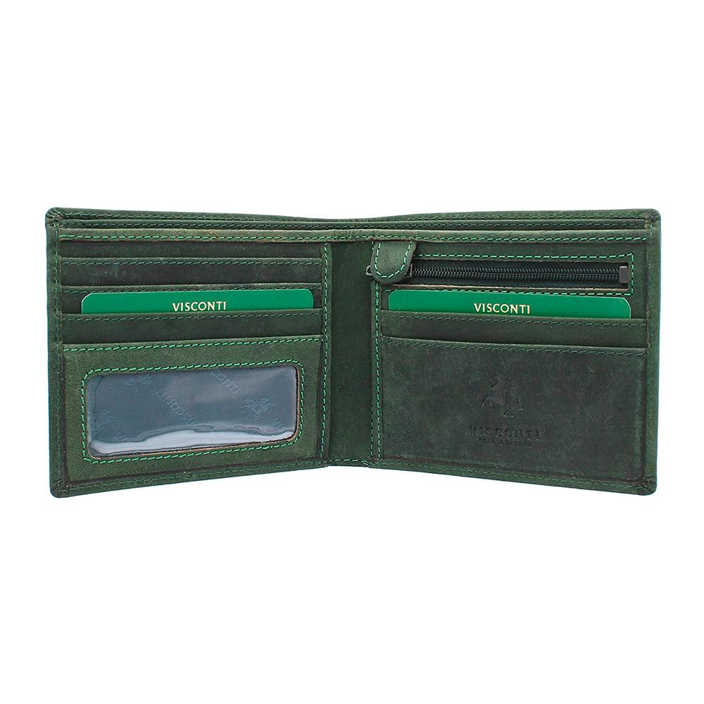 Мужской кошелек Visconti 707 - Shield (oil green)
