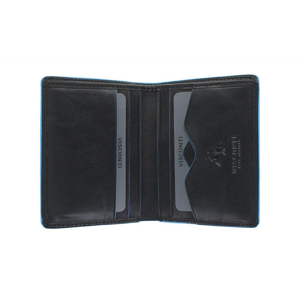 Мужской кошелек Visconti ALP84 с защитой RFID - Smith (Italian Black)