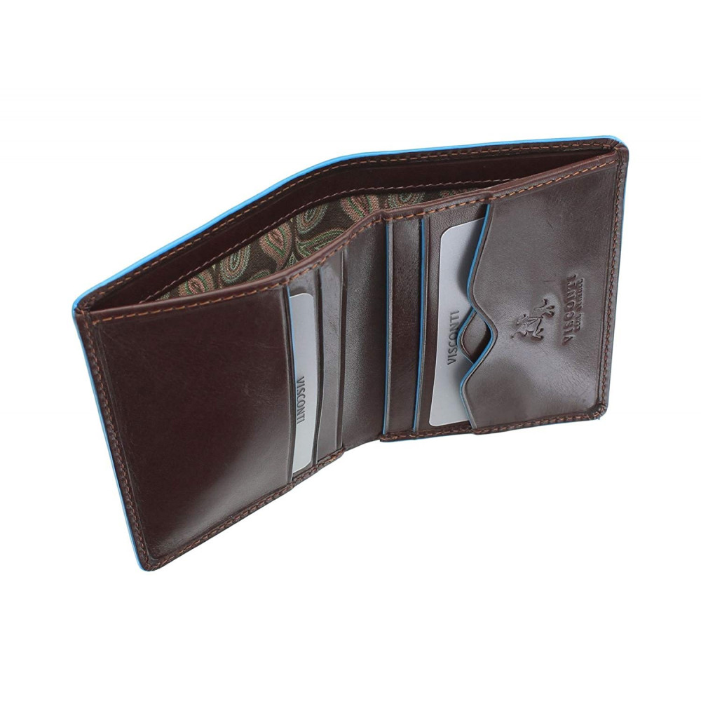 Мужской кошелек Visconti ALP84 с защитой RFID - Smith (Italian Brown)