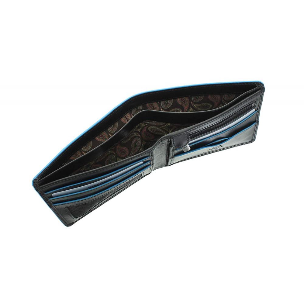 Мужской кожаный кошелек Visconti ALP85 с защитой RFID - Ozwald (Italian black)