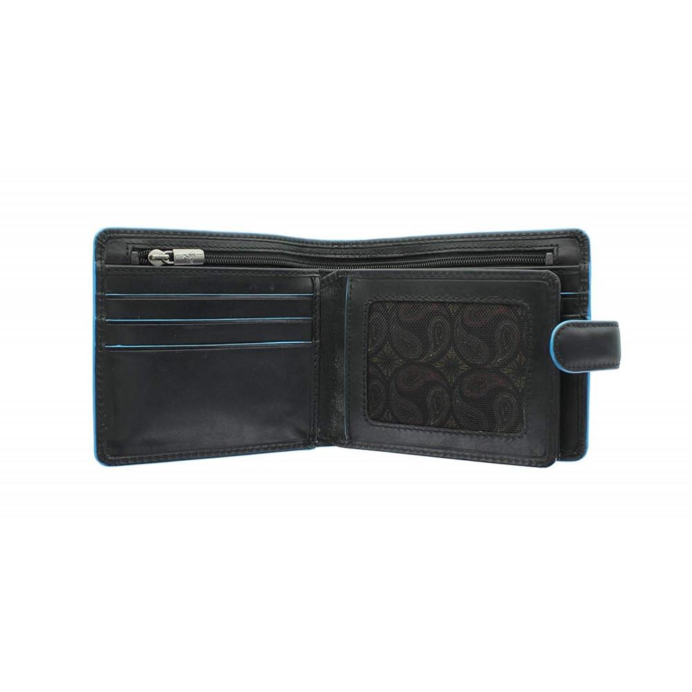 Мужской кошелек Visconti ALP86 с защитой RFID - Tom (Italian Black)
