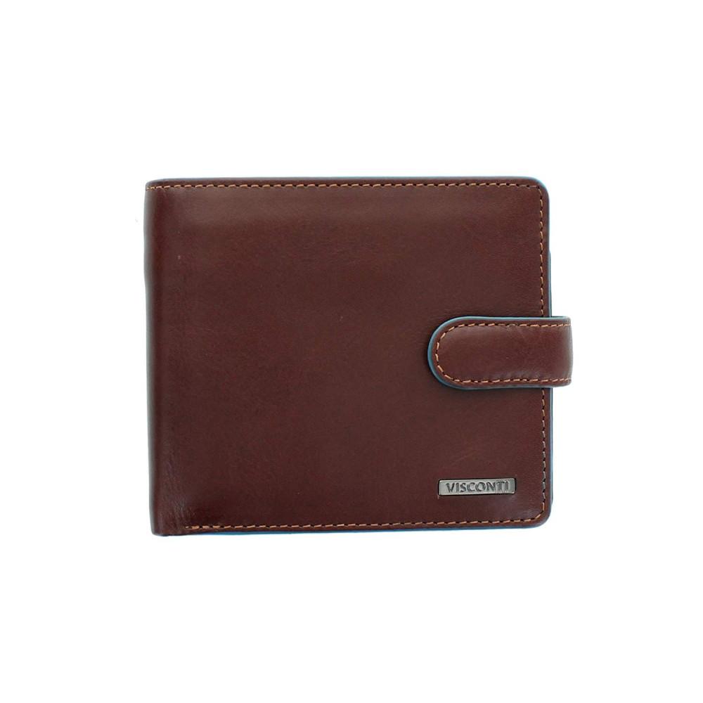 Мужской кошелек Visconti ALP86 с защитой RFID - Tom (Italian Brown)