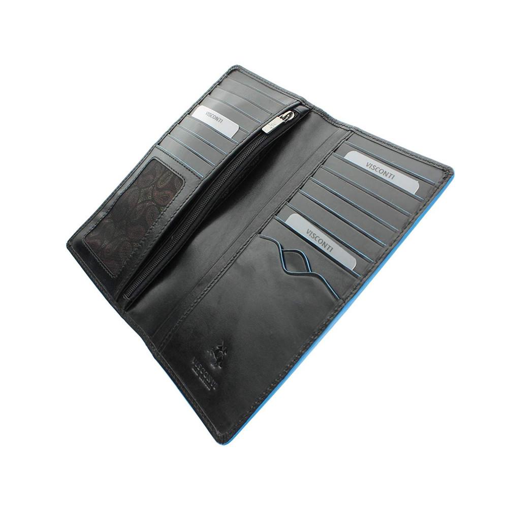 Мужской кожаный купюрник Visconti ALP88 с защитой RFID - Jean-Paul (Italian black)