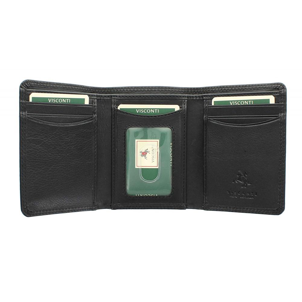Мужской кожаный кошелек Visconti HT18 - Compton (black)