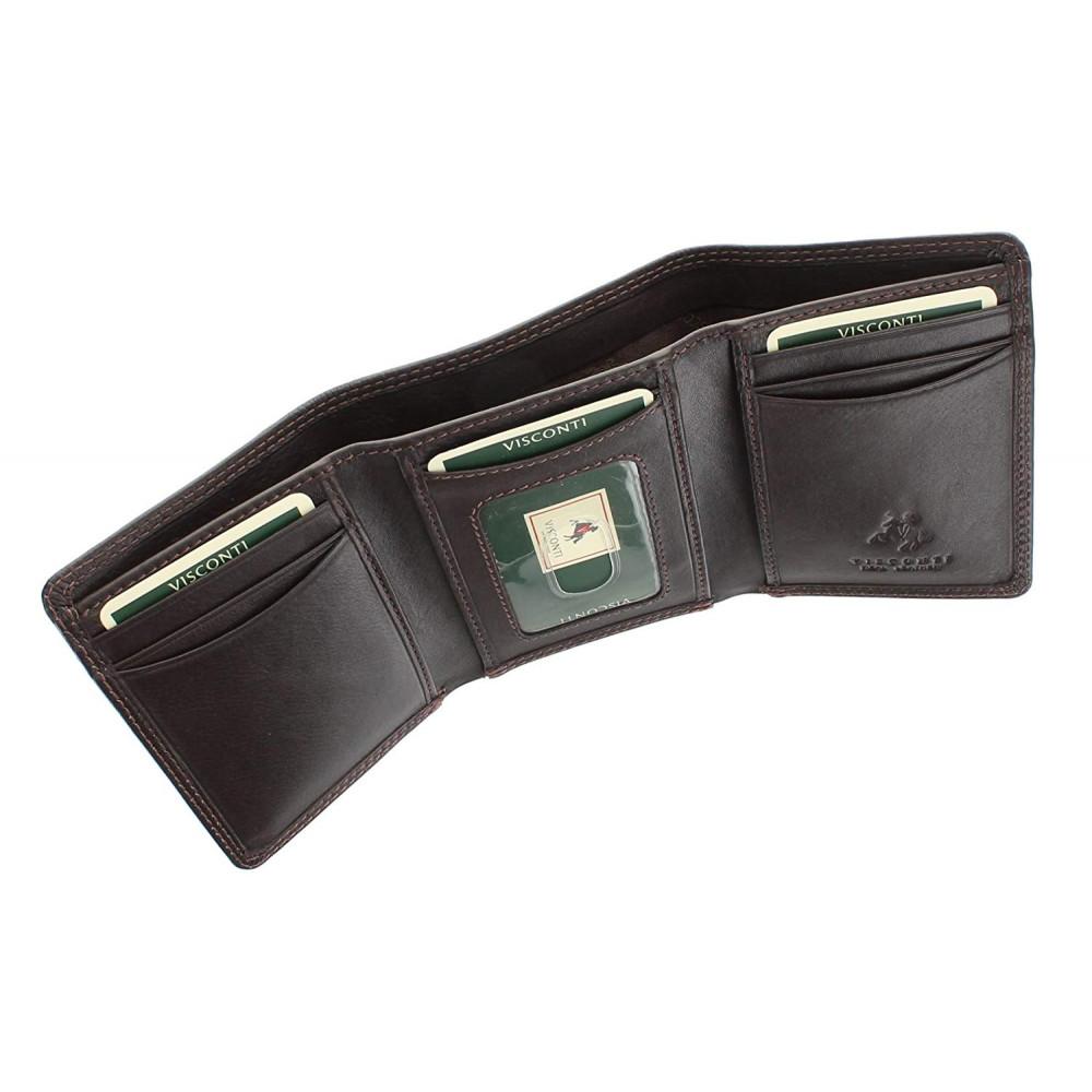 Мужской кожаный кошелек Visconti HT18 - Compton (brown)