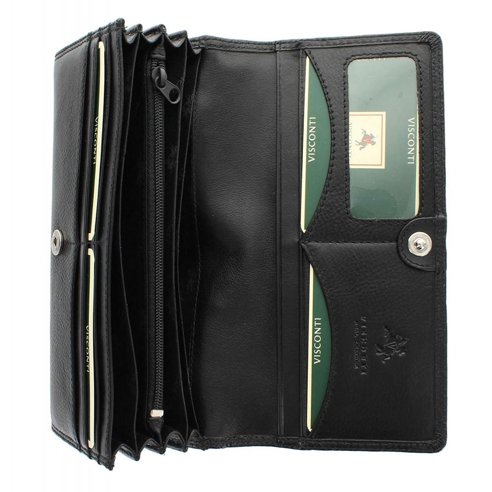 Женский кошелек Visconti HT35 - Buckingham (Black)