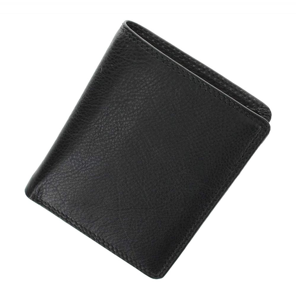 Мужской кожаный кошелек без монетницы и застежки Visconti HT6 - Harley (black)