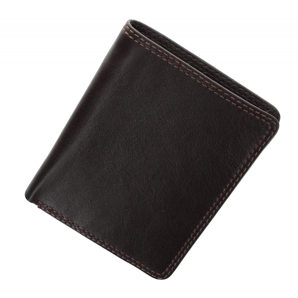 Мужской кожаный кошелек с RFID Visconti HT6 Harley (choc)