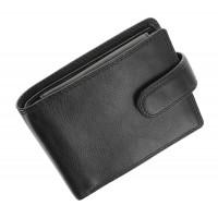 Мужской кожаный кошелек с RFID Vіsconti HT10 Knightsbrige (Black)