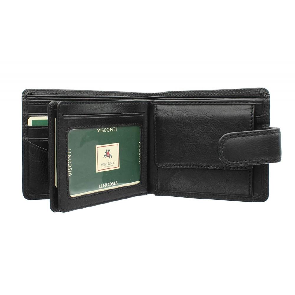 Мужской кошелек Visconti HT13 с защитой RFID - Strand (Black)