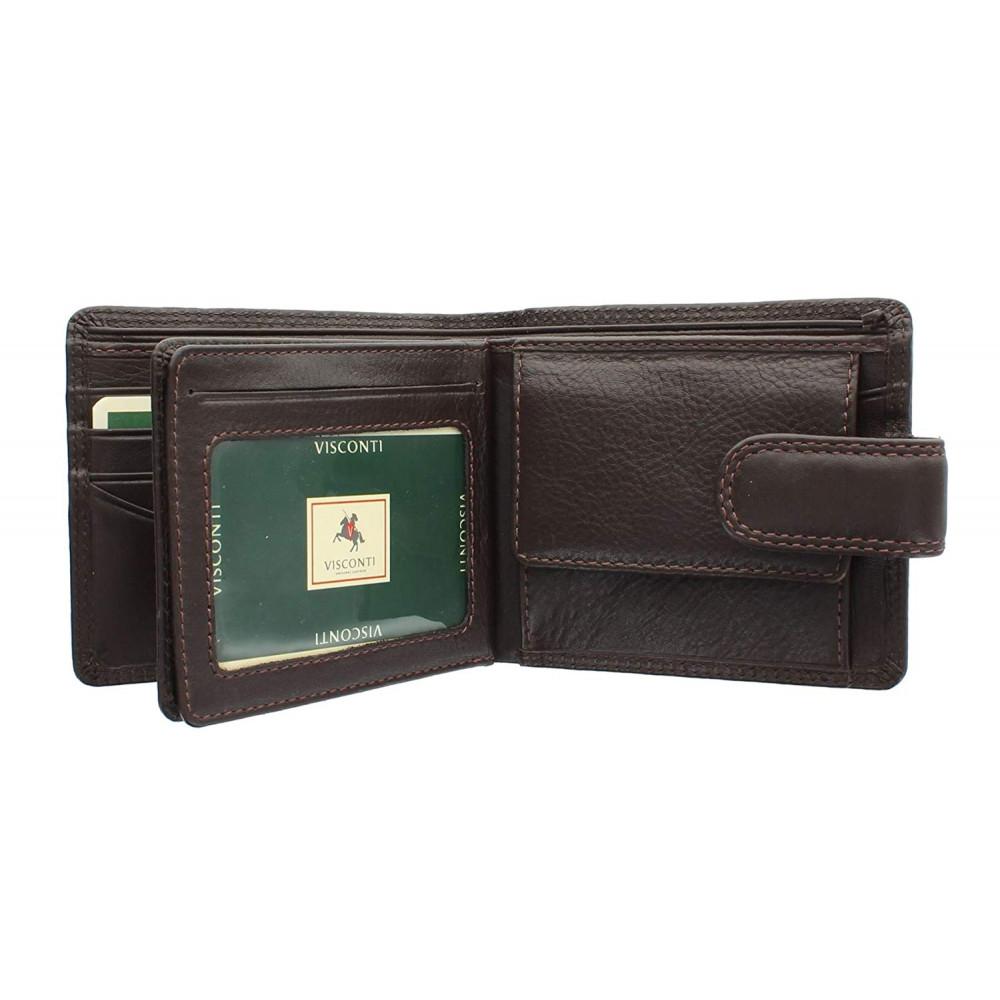 Мужской кошелек Visconti HT13 с защитой RFID - Strand (Choc)