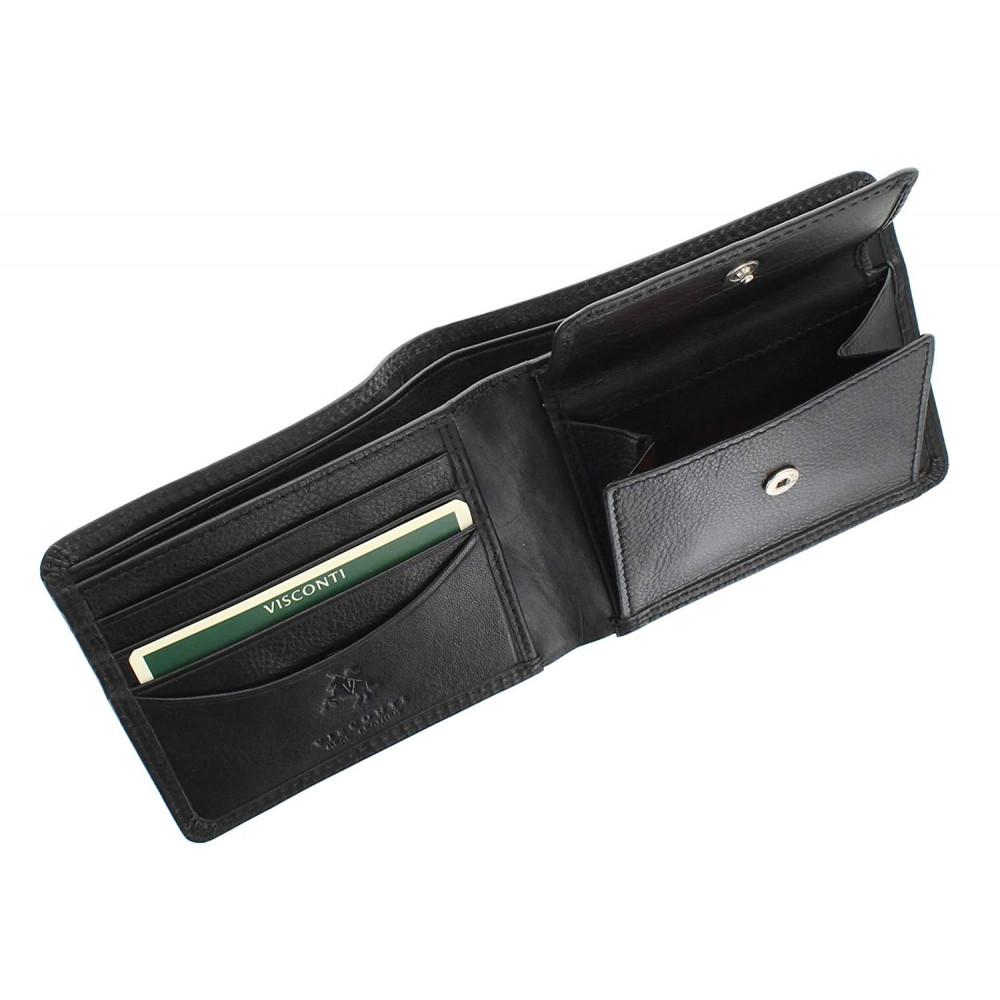 Мужской кошелек Vіsconti HT7 - Stamford (Black)
