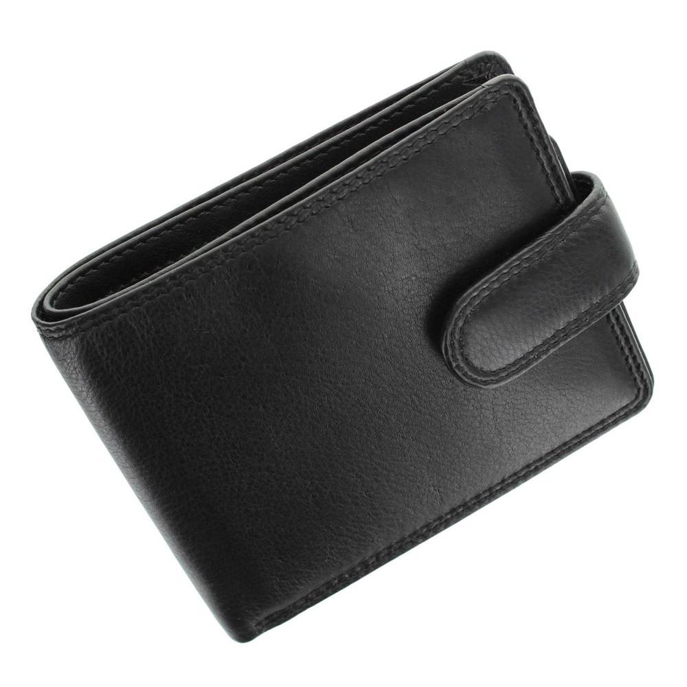 Мужской кожаный кошелек без монетницы Visconti HT9 с RFID - Sloan (Black)