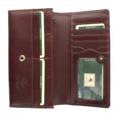 Женский кожаный кошелек Visconti MZ10 - Florence (brown)