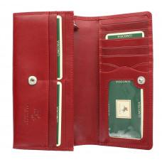 Женский кожаный кошелек Visconti MZ10 - Florence (red)