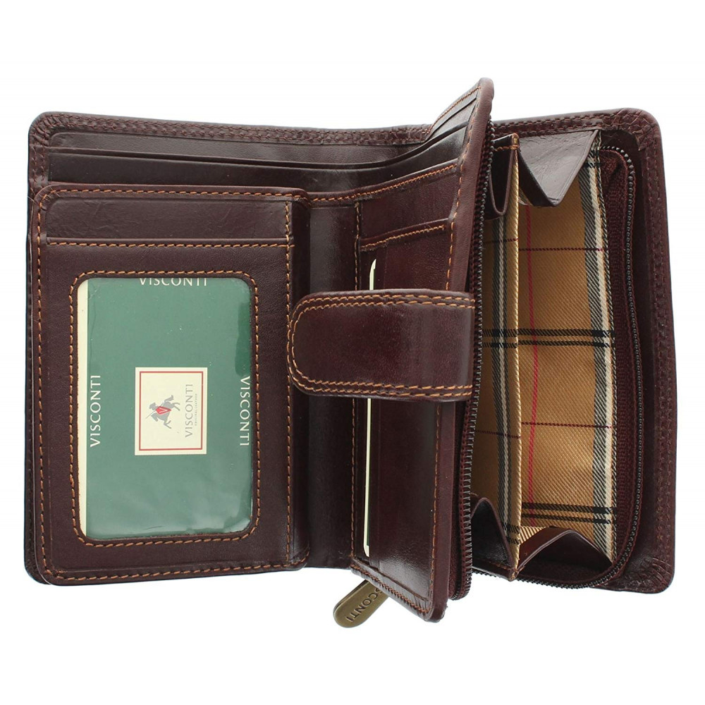 Женский кожаный кошелек Visconti MZ11 Venice (Brown)