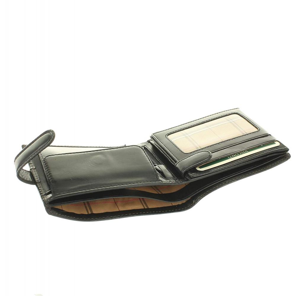 Мужской кожаный кошелек Visconti MZ5 - Rome (black)
