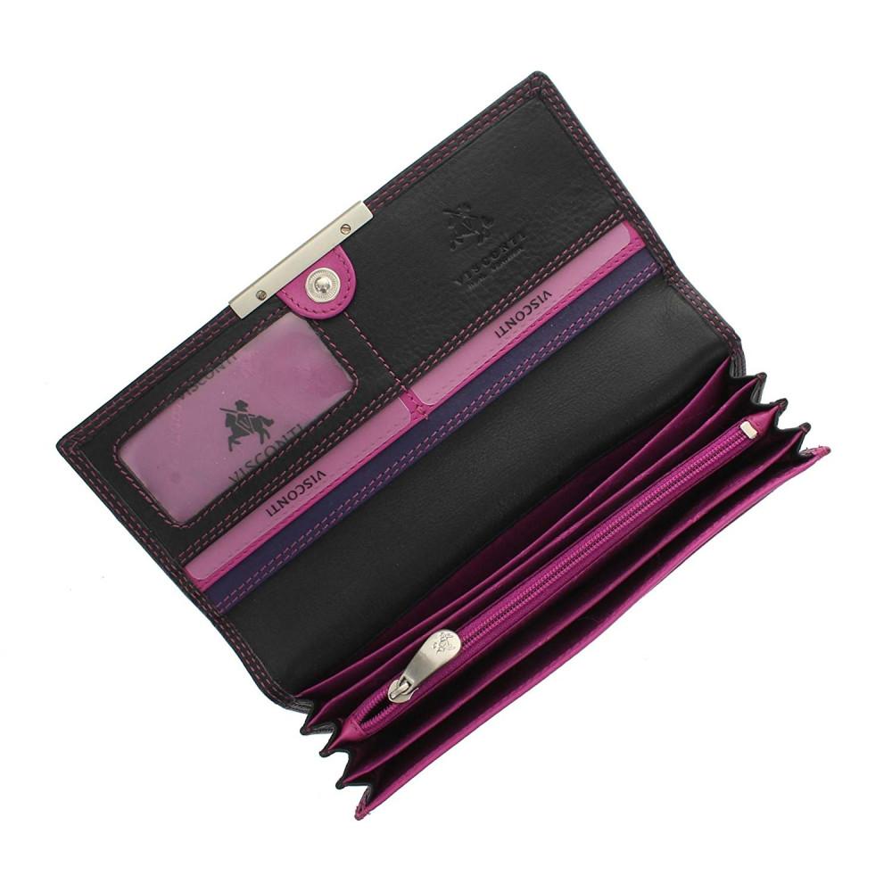 Женский кошелек Visconti R11 - Paloma (Black-Purple)