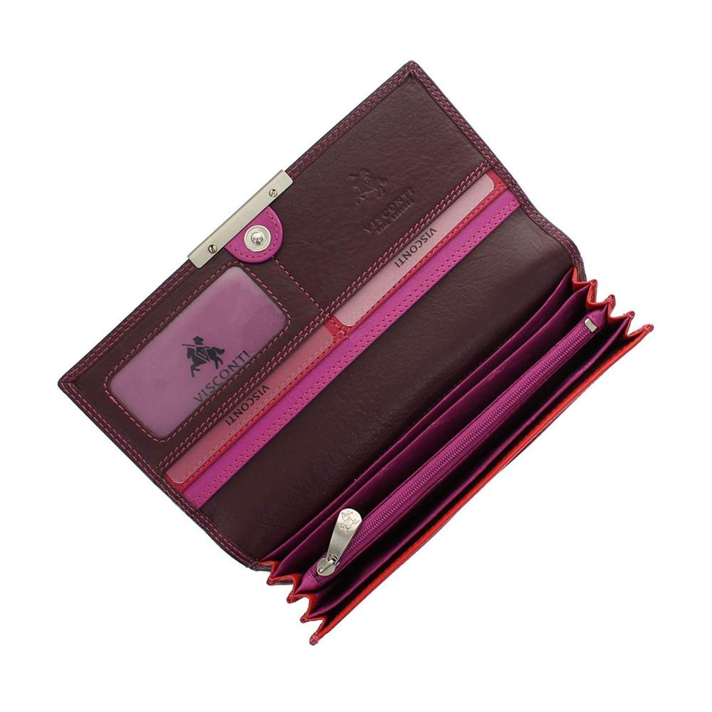 Женский кошелек Visconti R11 - Paloma (Plum Multi)