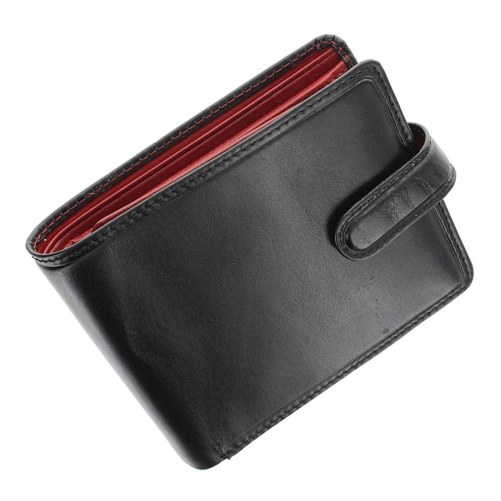 Мужской кошелек Visconti TR35 с защитой RFID - Atlantis (Black-Red)