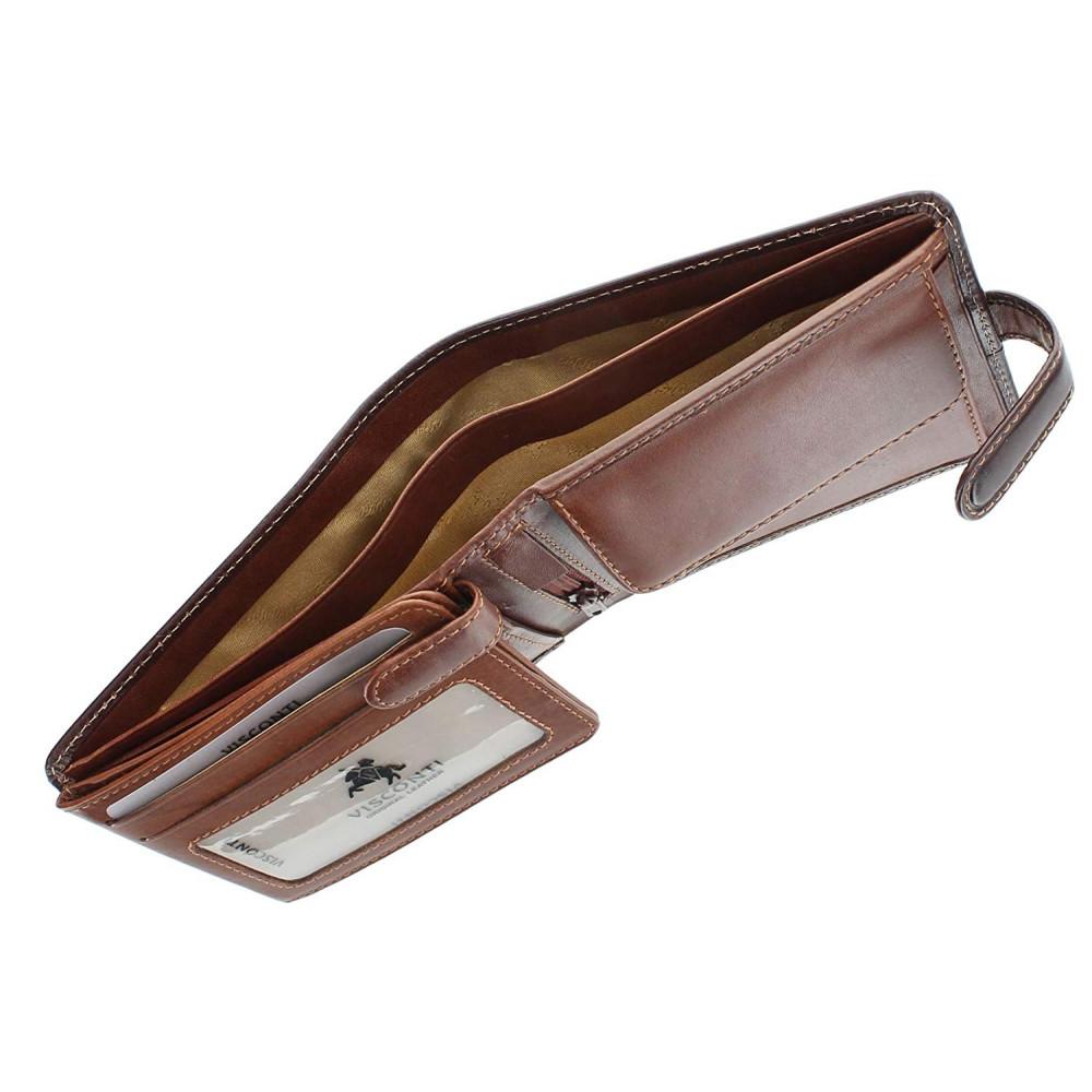 Мужской кошелек Visconti TR35 с защитой RFID - Atlantis (Brown-Tan)