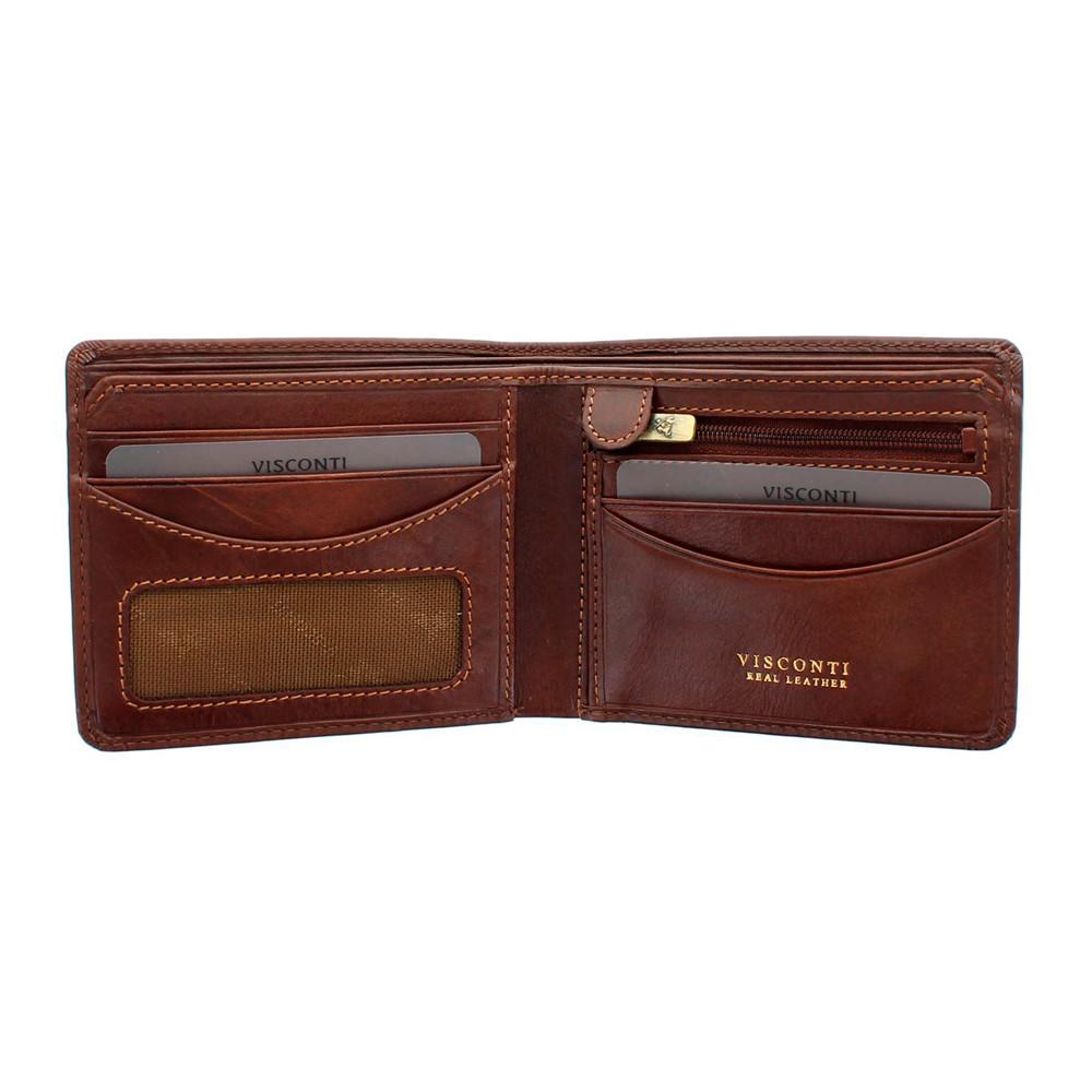 Мужской кошелек Visconti TSC46 с защитой RFID - Francesca (Tan)